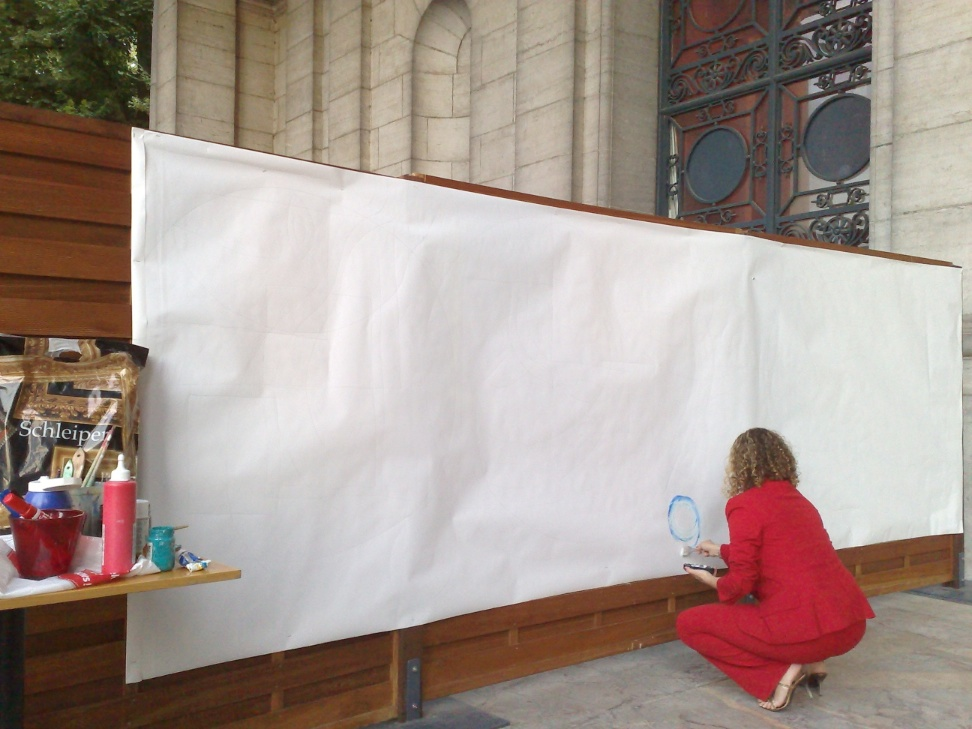 interactive painting at cinquantenaire