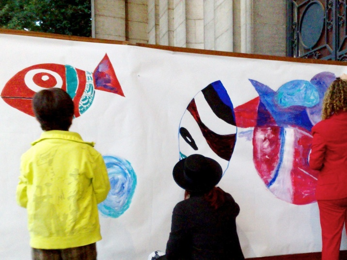 interactive painting at cinquantenaire 2