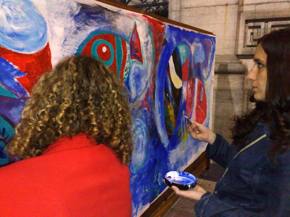 interactive painting at cinquantenaire 3